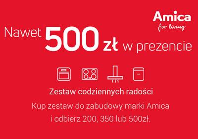 Zwrot do 500 zł za zakup sprzętu Amica